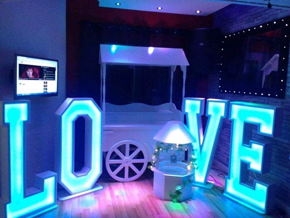 4ft Love Letters now ready to hire