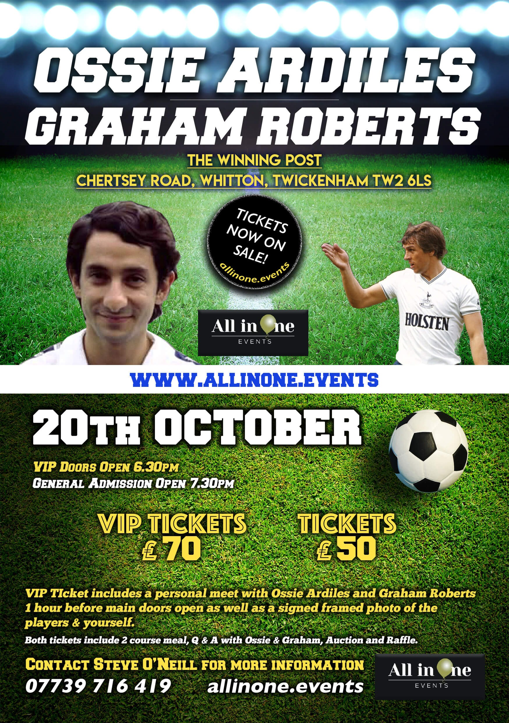 An Evening With Ossie Ardiles & Graham Roberts