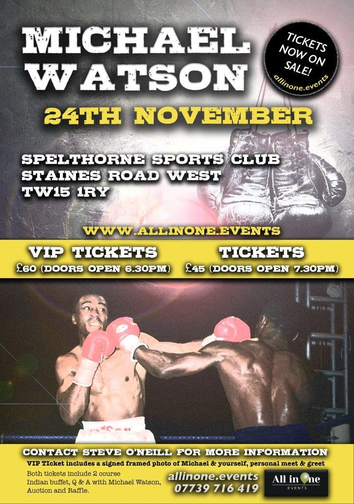 An Evening With Boxer Michael Watson