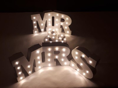 LED Table Top Mr & Mrs