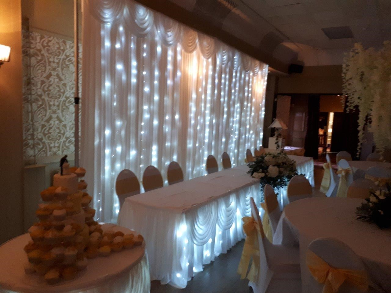 LED Top Table Swag - Weddings