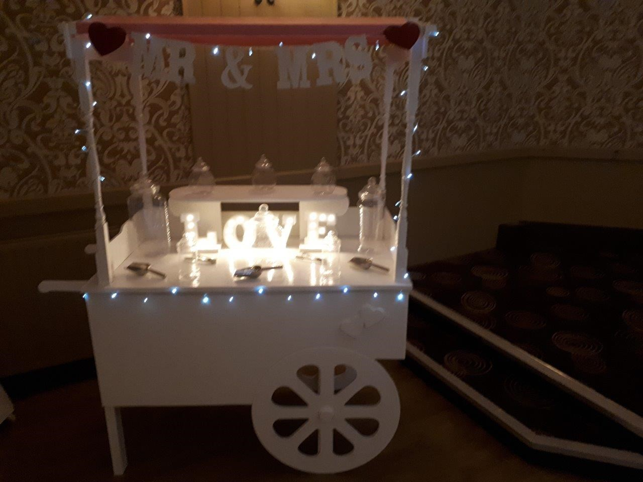 Sweetie Cart - Candy Floss, Popcorn, Slush Puppies and Side Stalls