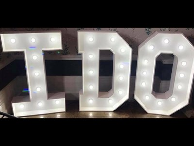 LED 4ft I DO Letters