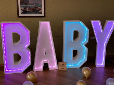 LED 4ft Baby letters