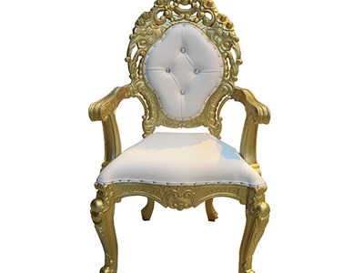 Gold Wedding Throne Chair