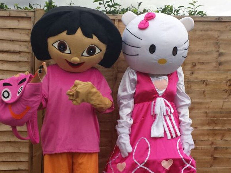 Hello Kitty & Dora the Explorer - Mascots
